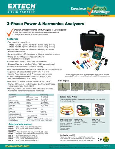 PQ3350-1: 3-Phase Power & Harmonics Analyzers