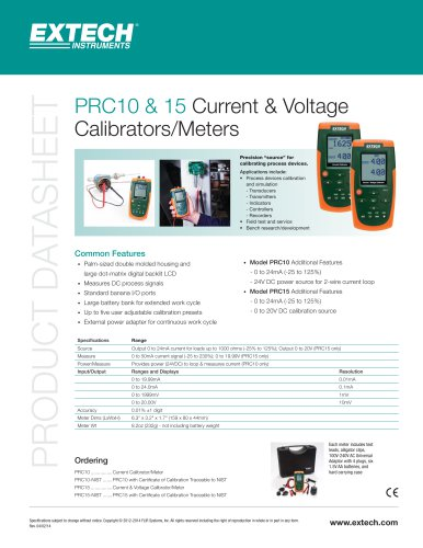 PRC15: Current and Voltage Calibrator/Meter