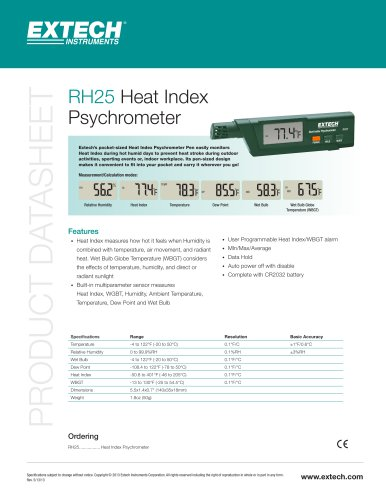 RH25: Heat Index Psychrometer