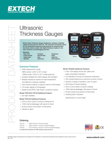 TKG100: Digital Ultrasonic Thickness Gauge