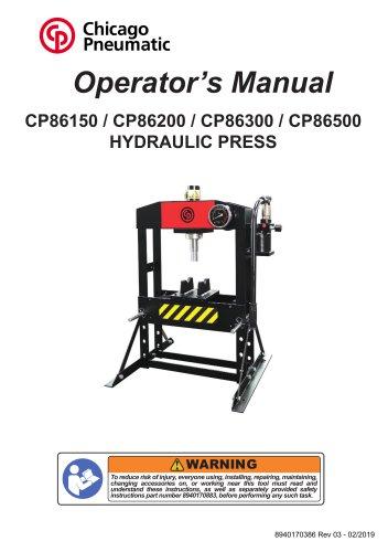 CP86150 / CP86200 / CP86300 / CP86500HYDRAULIC PRESS