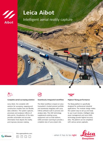 Leica Aibot UAV data sheet