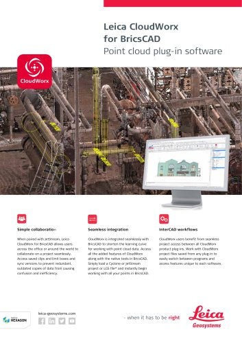 Leica CloudWorx for BricsCAD Data Sheet