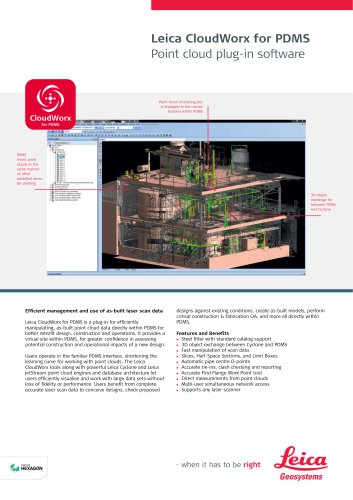 Leica CloudWorx for PDMS Data Sheet