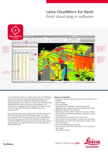 Leica CloudWorx for Revit Data Sheet