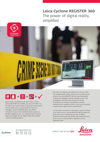 Leica Cyclone REGISTER 360 - Public Safety Flyer