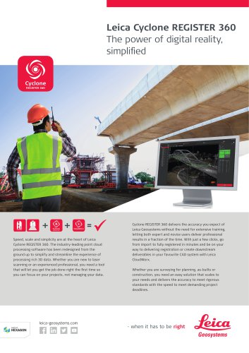 Leica Cyclone REGISTER 360 - Survey & Infrastructure Flyer