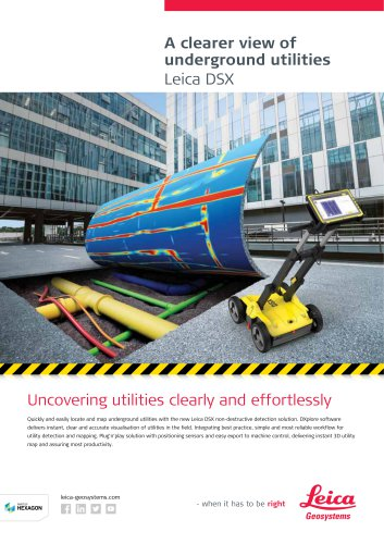 Leica DSX Utility Detection Solution DS