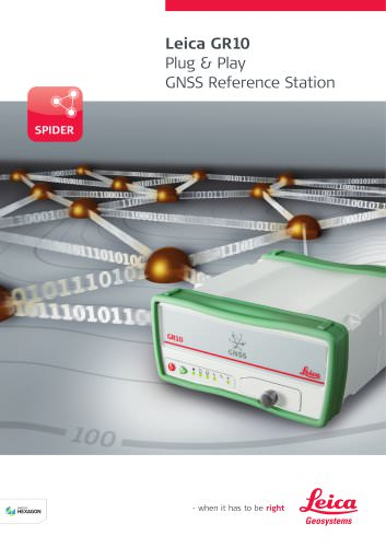 Leica GR10 Plug & Play GNSS Reference Station