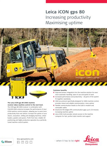 Leica iCON gps 80 Contractor