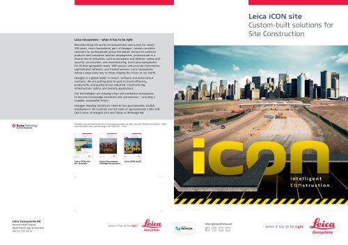 Leica iCON site Brochure