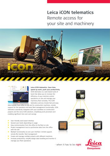 Leica iCON telematics