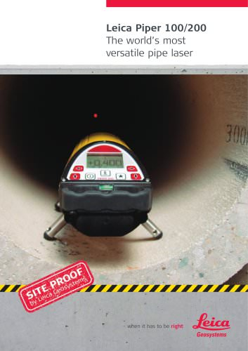 Leica Piper 100/200 - The world's most versatile pipe laser
