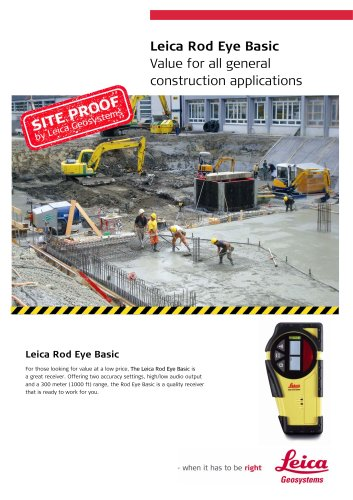 Leica Rod Eye Basic - Value for all general construction applications