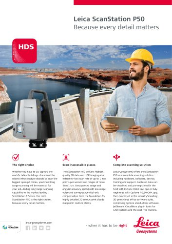 Leica ScanStation P50 Data Sheet