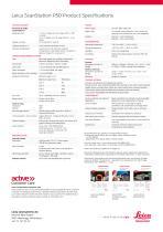 Leica ScanStation P50 Data Sheet - 2