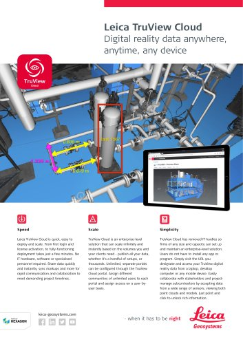Leica TruView Cloud Data Sheet