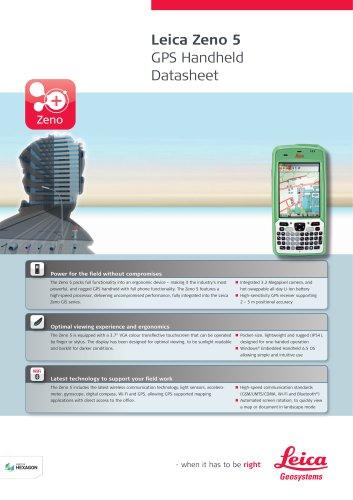Leica Zeno 5 GPS Handheld Datasheet