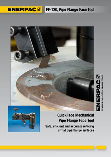 QuickFace Mechanical  Pipe Flange Face Tool