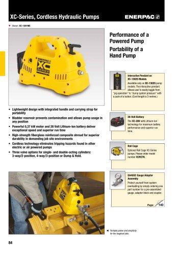 XC-Series Cordless Hydraulic Pumps