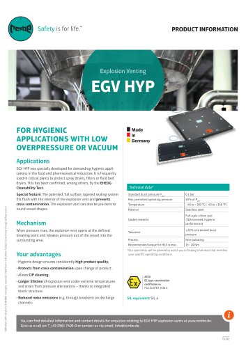 EGV HYP Product information