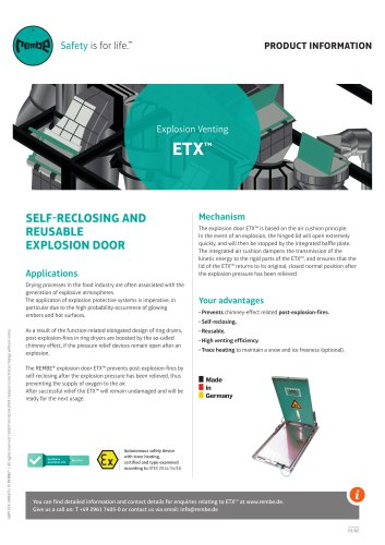 Explosion Venting ETX™