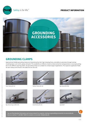 Grounding Clamps Product Information