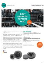 GRX® Graphite Rupture Disc Product Information