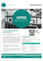 HPRD High Pressure Rupture Disc Product Information