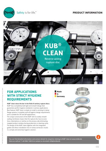 KUB clean Product Information