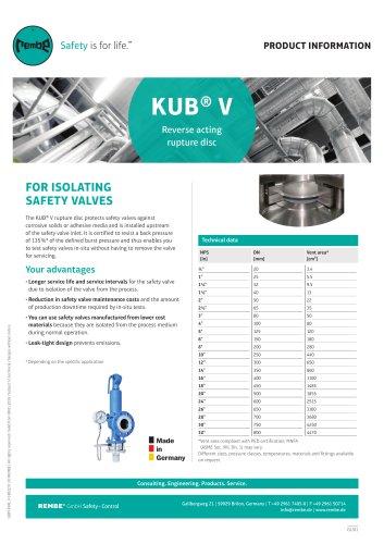 KUB V Product Information