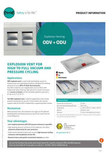 ODV+ODU Product Information