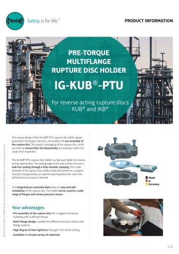 Rupture Disc Holder IG-KUB-PTU