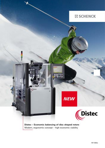 Distec Vertical balancing machine for rotors up to 30 kg