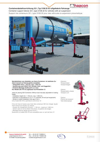 Container support device 32 t