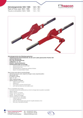 Rack & pinion jacks