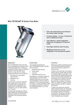 MULTISTREAM® B - Solid Flow Meter low-cost and flexible