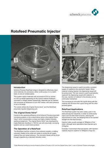 Rotofeed Pneumatic Injector