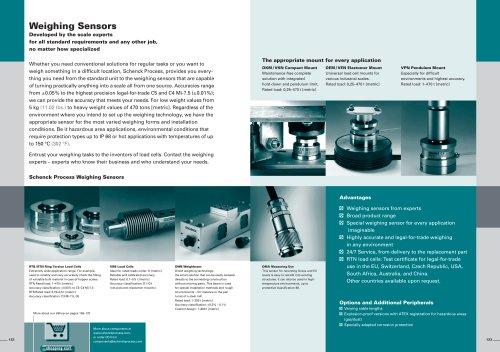 weighing sensor
