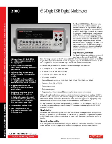 6½-Digit USB Digital Multimeter