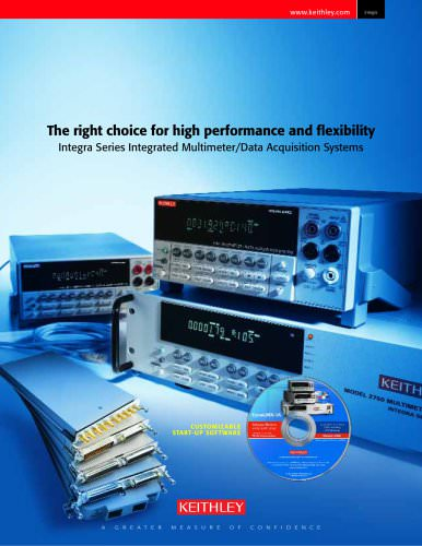 Integra Series Integrated Multimeter/Data Acquisition Systems Brochure