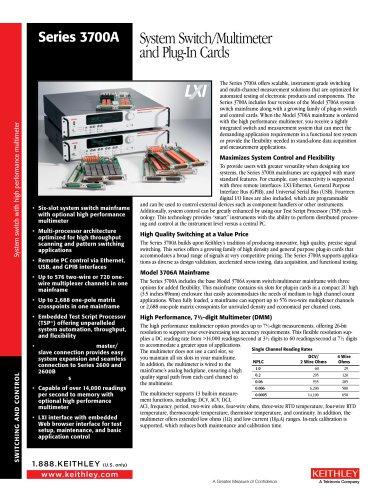 Model 3706A Digital Multimeter Six Slots System Switch w/USB/Ethernet/GPIB
