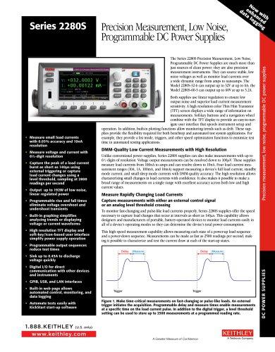 Series 2280S  Precision Measurement, Low Noise, Programmable DC Power Supplies
