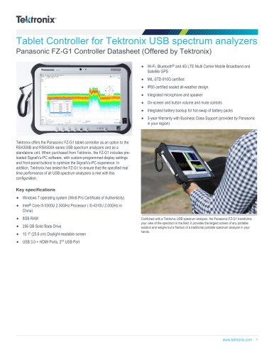 Tablet Controller for Tektronix USB spectrum analyzers Panasonic FZ-G1 Controller Datasheet (Offered by Tektronix)