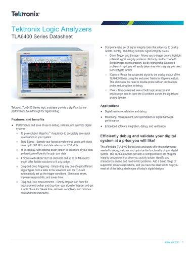 TLA6400 Series Datasheet