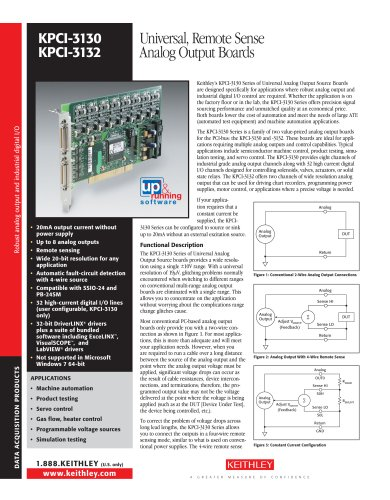 Universal, Remote Sense  Analog Output Boards