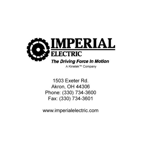 IMPERIAL  ELECTRIC  The Driving Force In Motion
