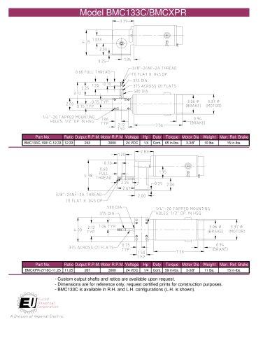 Model BMC133C/BMCXPR