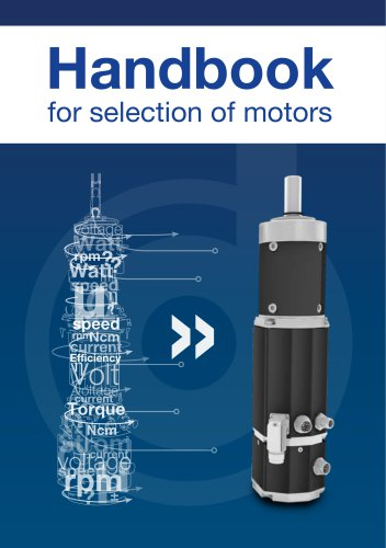 Handbook for selection of motors