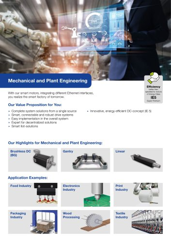 Segment Flyer Mechanical and Plant Engineering